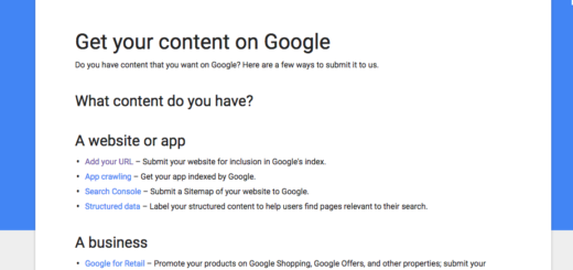 Submit Your Content To Google