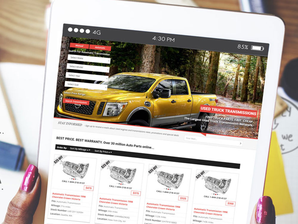 Auto Engines Business Responsive Website Design