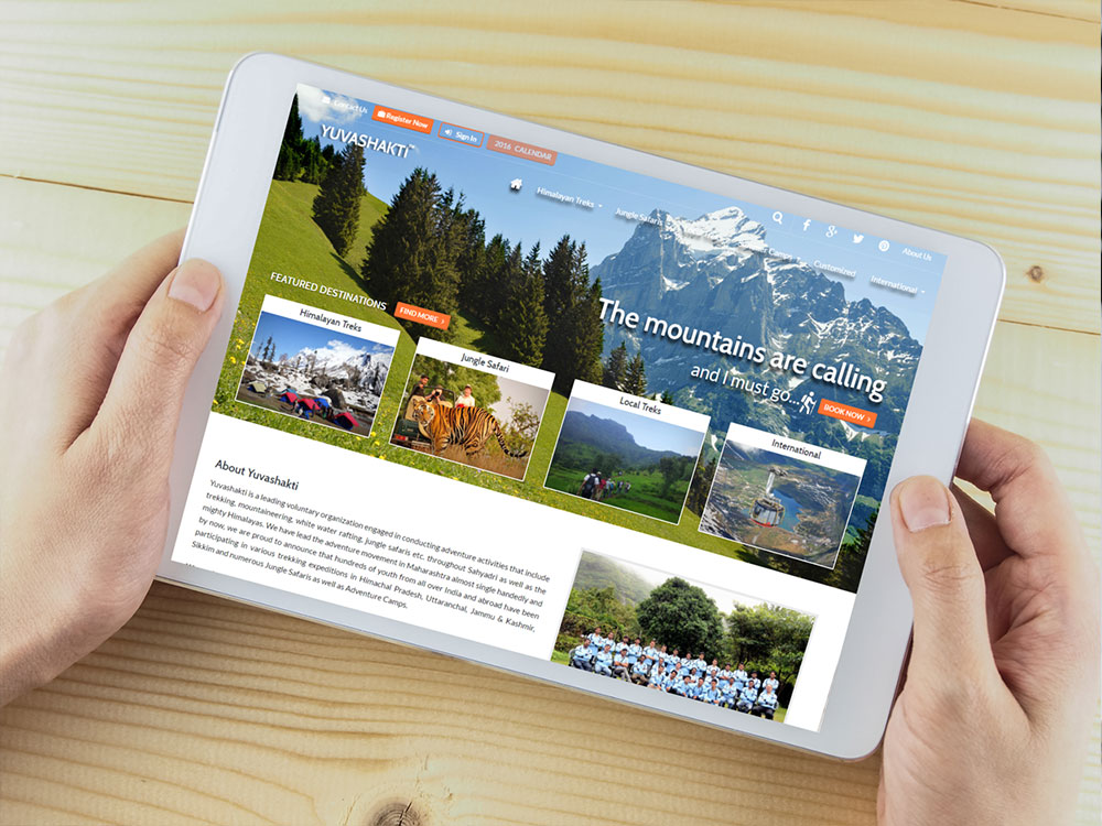 Adventure Travel Tourism Responsive Website Design