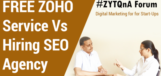 Digital Marketing For Start Ups- Opt For ZOHO FREE Service Or Hire SEO Agency?